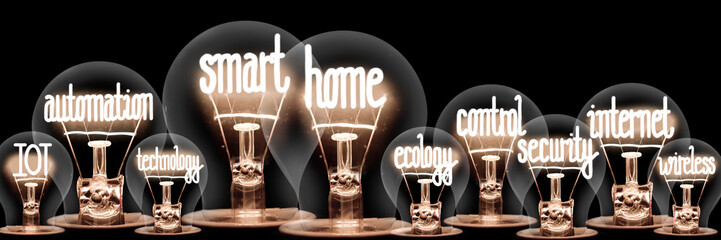 Light Bulbs with Smart Home Concept