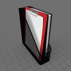 Vertical paper holder