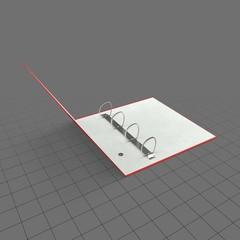 Half open ring binder 1