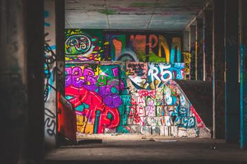 Foto auf Gartenposter Graffiti Skatepark w Warszawie Warsaw graffiti