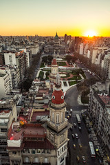 Poster Buenos Aires sunset buenos aires city panoramic view