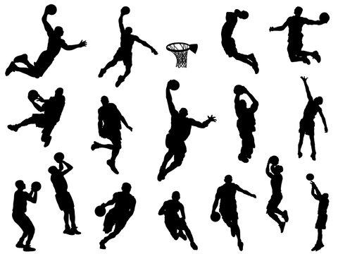 バスケットボール_シルエット