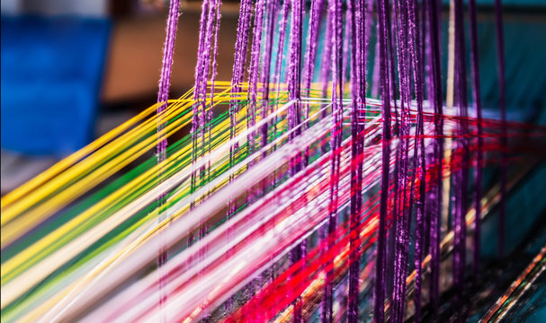 indian manual loom hand weave