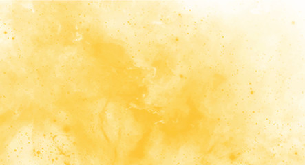Yellow watercolor background for your design, watercolor background concept, vector.