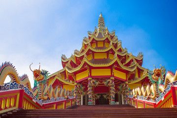 Spoed Foto op Canvas Bedehuis China temple in thailand