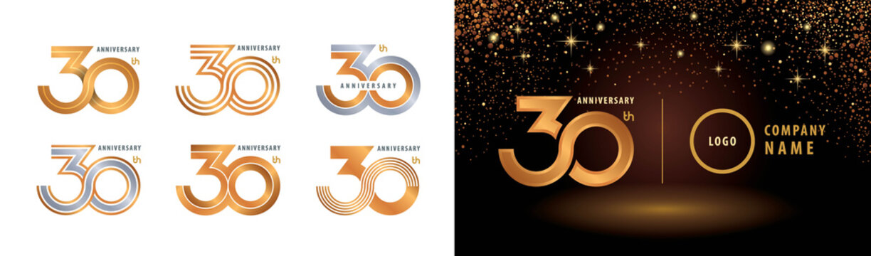 Set of 30th Anniversary logotype design