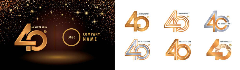 Set of 40th Anniversary logotype design