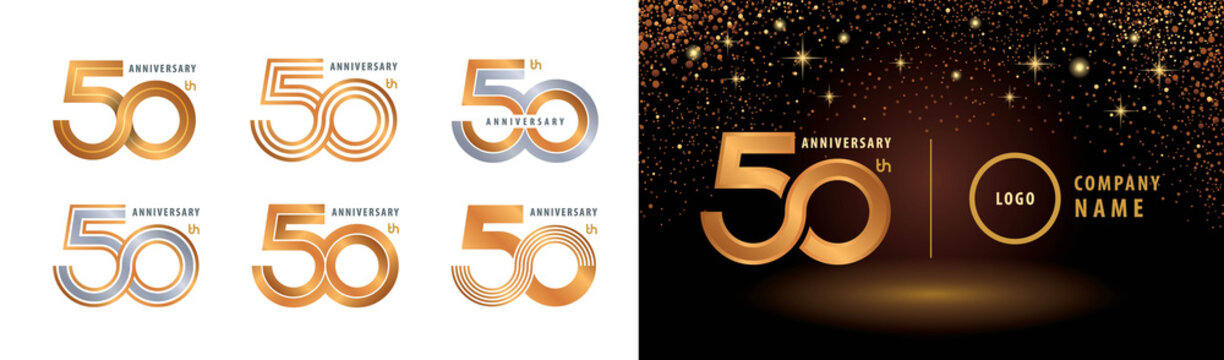Set of 50th Anniversary logotype design