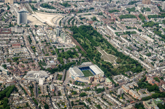 Stamford Bridge Stadium, Chelsea - Aerial View