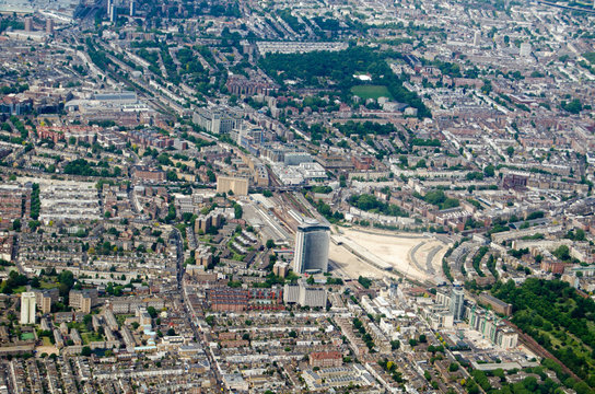 Earls Court and Holland Park aerial view, London