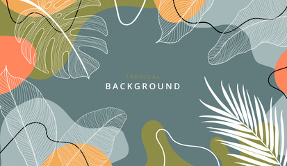Creative hard paint cover design backgrounds vector. Minimal trendy style organic shapes pattern with copy space for text design for invitation, Party card,Social Highlight Covers and stories page  Fototapete