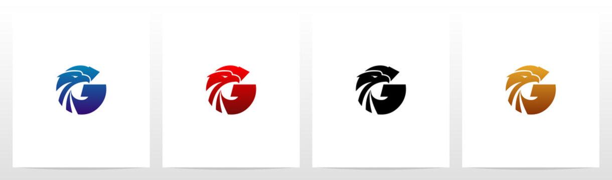 Eagle Head On Letter Logo Design G