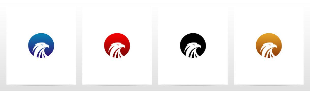 Eagle Head On Letter Logo Design O