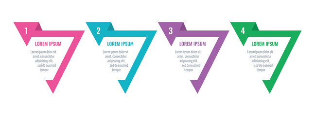 triangle infographic template. six step informational template. business information template