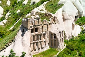 Ancient castle in Pigeon Valley in Cappadocia, Turkey