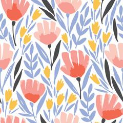 Modèle sans couture d& 39 élégance abstraite avec fond floral.