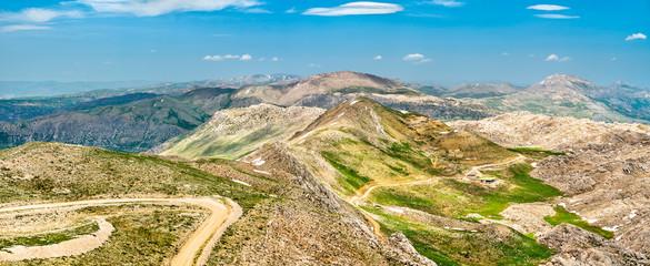 Landscape of Nemrut Dagi National Park in Turkey