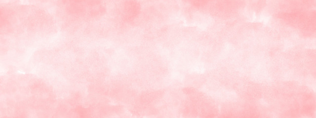 pink watercolor background hand-drawn with space for text or image.
