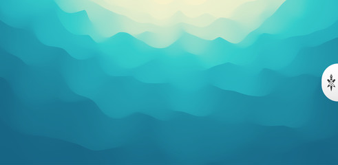 Wavy gradient backdrop. Abstract background with dynamic effect. Bright smooth transitions. 3D vector Illustration for design.
