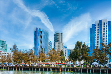 Fototapete - Waterfront Architecture in San Diego California