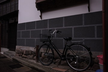 Foto auf Leinwand Fahrrad 自転車のある風景