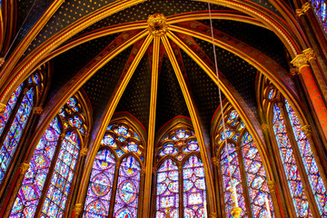 Stained glass at Sainte-Chapelle in Paris
