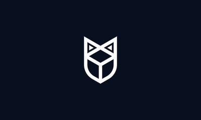 Elegant minimal line art hexagon Fox robotic logo.