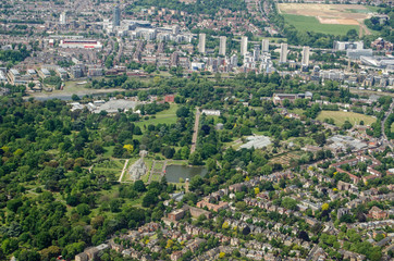 Aerial View of Kew Gardens, London