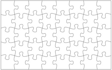 32 jigsaw pieces template. Twenty two puzzle pieces connected together.