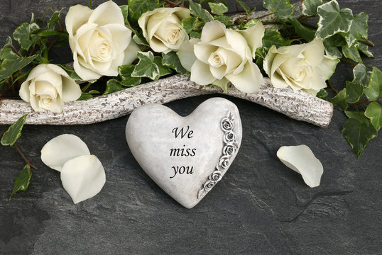 Heart with the inscription I miss you