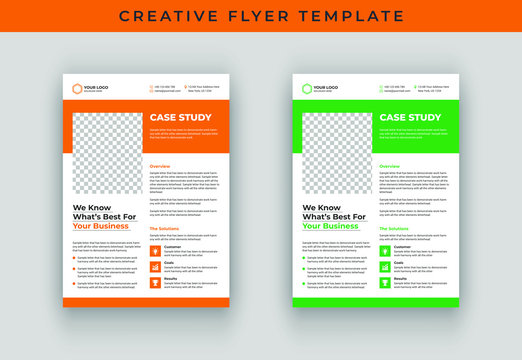 Case study flyer template design