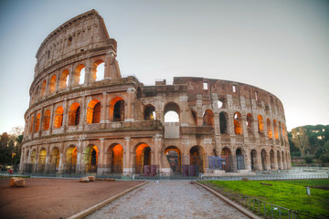 Poster Rome The Colosseum or Flavian Amphitheatre in Rome, Italy