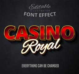 Fototapeta Casino royal text, editable font effect