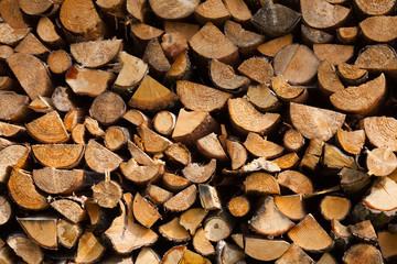 stapled chimney  wood background