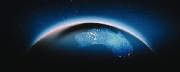 Fototapete - Australia at night