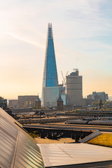 The Shard and London skyline in a sunny day