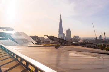 Skyline of London with the Shard in a sunny day