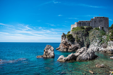Fort Lovrijenac or St. Lawrence Fortress west of Dubrovnik