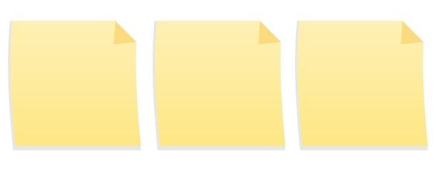 Collection of Yellow Adhesive Notes - stock photo