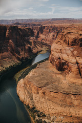 Staande foto Canyon Visiter Horseshoe Bend en Arizona
