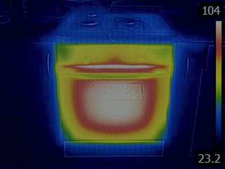 Thermal Image of Stove Oven