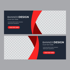 Corporate business sale banner template, horizontal advertising business banner layout template sign set , clean abstract facebook and social cover header design