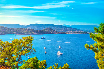 Cannes La Napoule bay view. French Riviera, Azure Coast, Provence