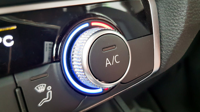 Car air conditioning and heater button in modern car