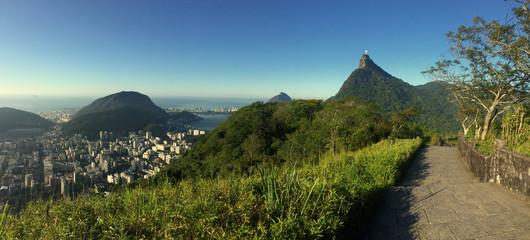 Wall Mural - Panorama of Rio de Janeiro with Corcovado mountain, Brazil