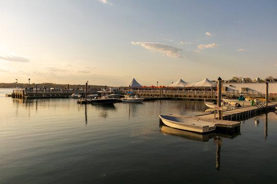 Belmar Marina as Dusk Approaches