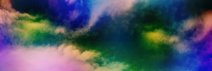 Wall Mural - colorful cloudy sky, gloomy clouds, bad weather concept, panoramic image