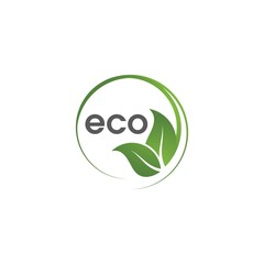 Eco of green Tree leaf ecology