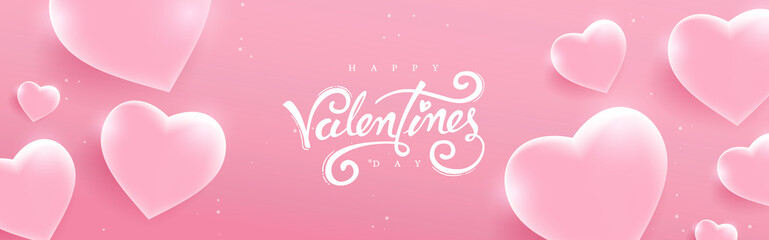 Valentines day background with Heart Shaped glass. Vector illustration.banners.Wallpaper.flyers, invitation, posters, brochure, voucher discount.