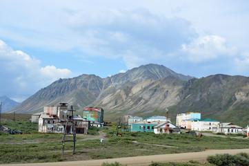 Printed kitchen splashbacks Khaki Chukotka village Ozerny near the village of Egvekinot